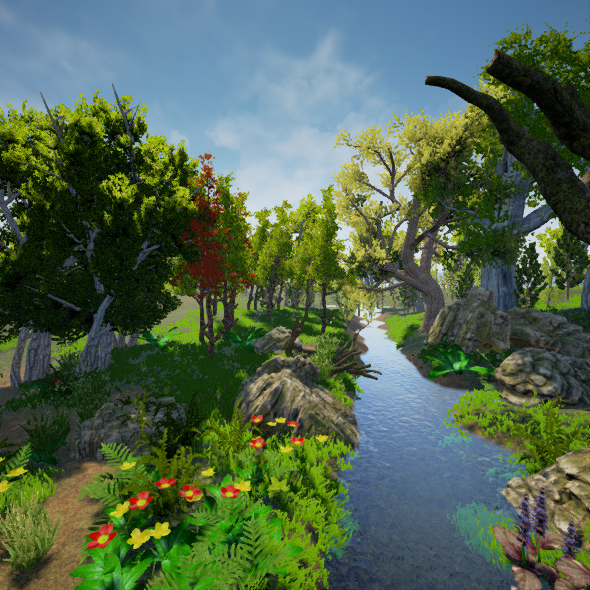 Realistic Forest Pack [ Unreal Engine ] - 3DOcean Item for
