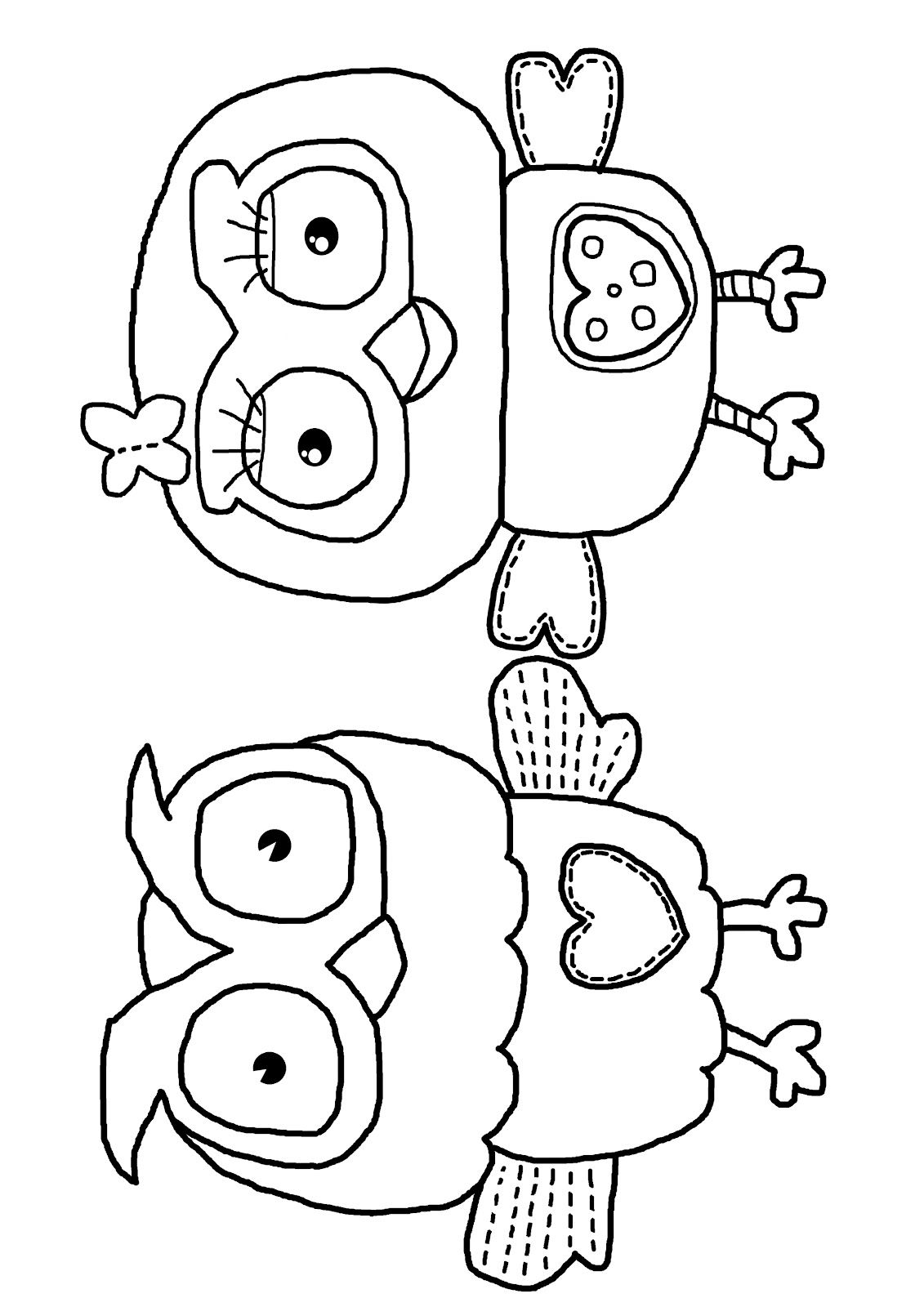 Milk Eyes: Giggle And Hoot Free Colouring Coloring Page