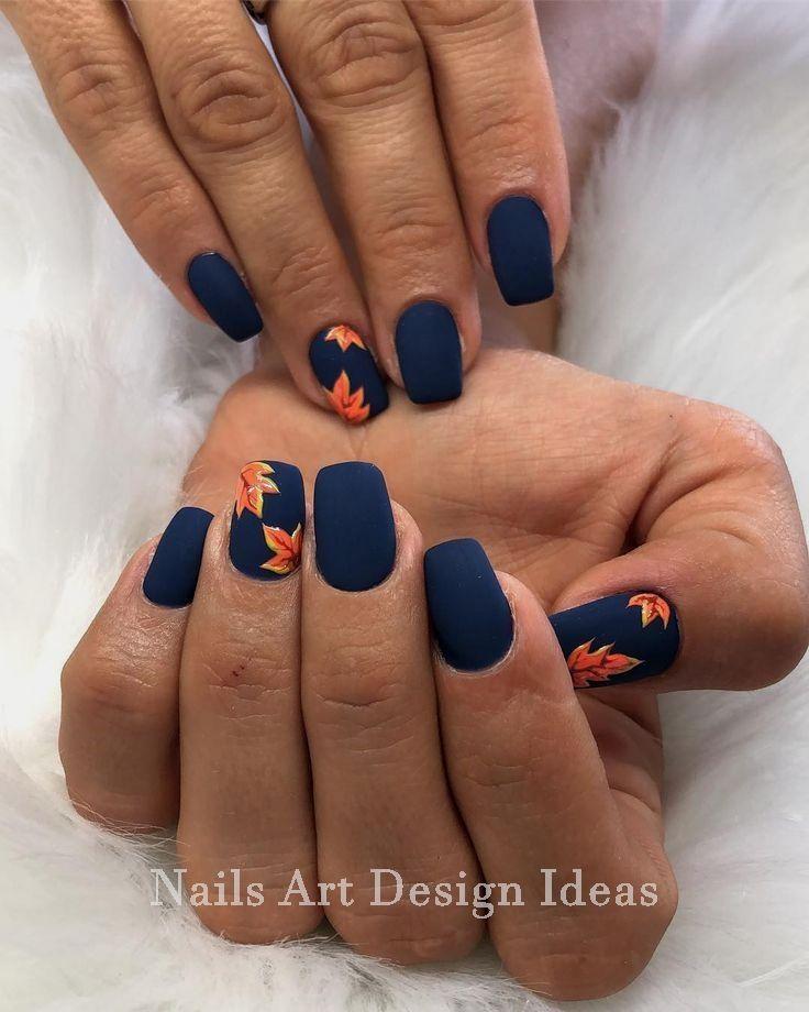 Beautiful And Colorful Art Designs For Short Nails Whitenail Nailideas Fall Nail Art Designs Fall Nail Designs Cute Acrylic Nails