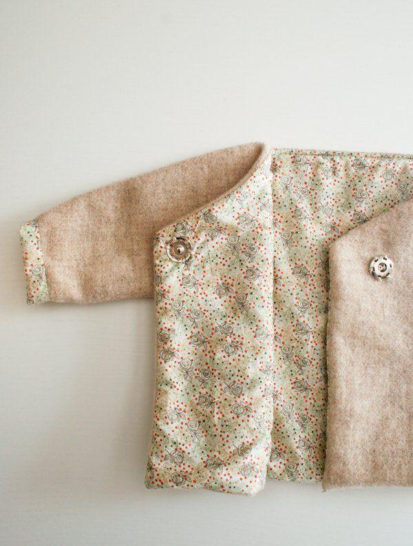 Felted Wool Baby Jacket | Purl Soho | Sewing | Pinterest | Ropa niña ...