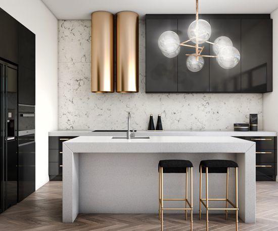 20 Sleek Metallic Modern Kitchens - Design Matters