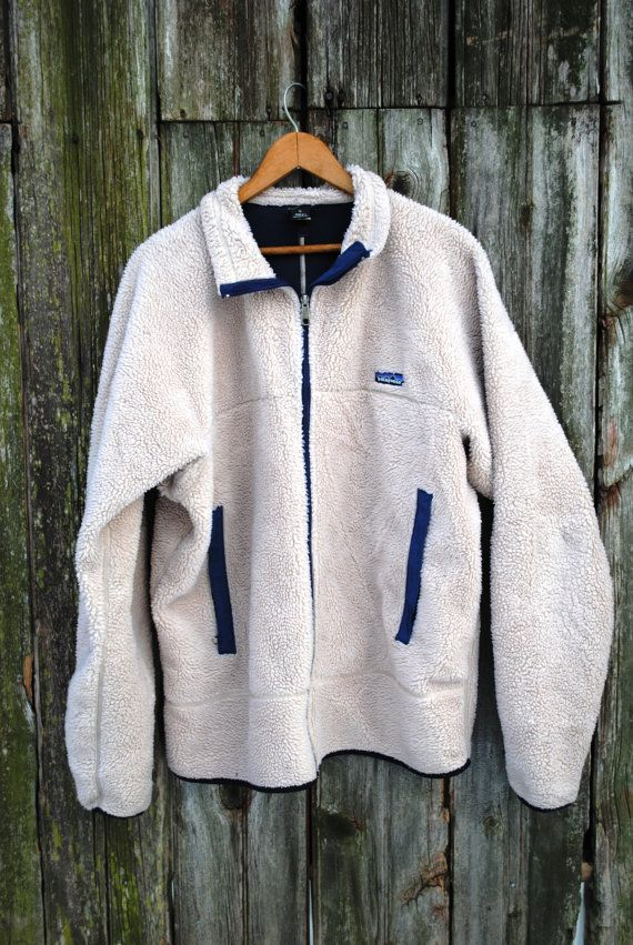 Vintage Patagonia Berber Sheepskin Fleece Jacket Extra Large ...