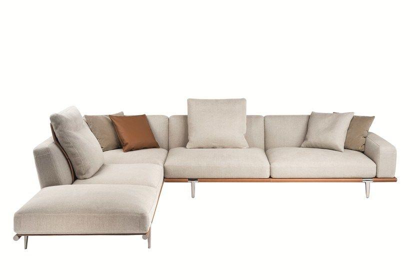 Sectional fabric sofa LET IT BE by Poltrona Frau Sofa