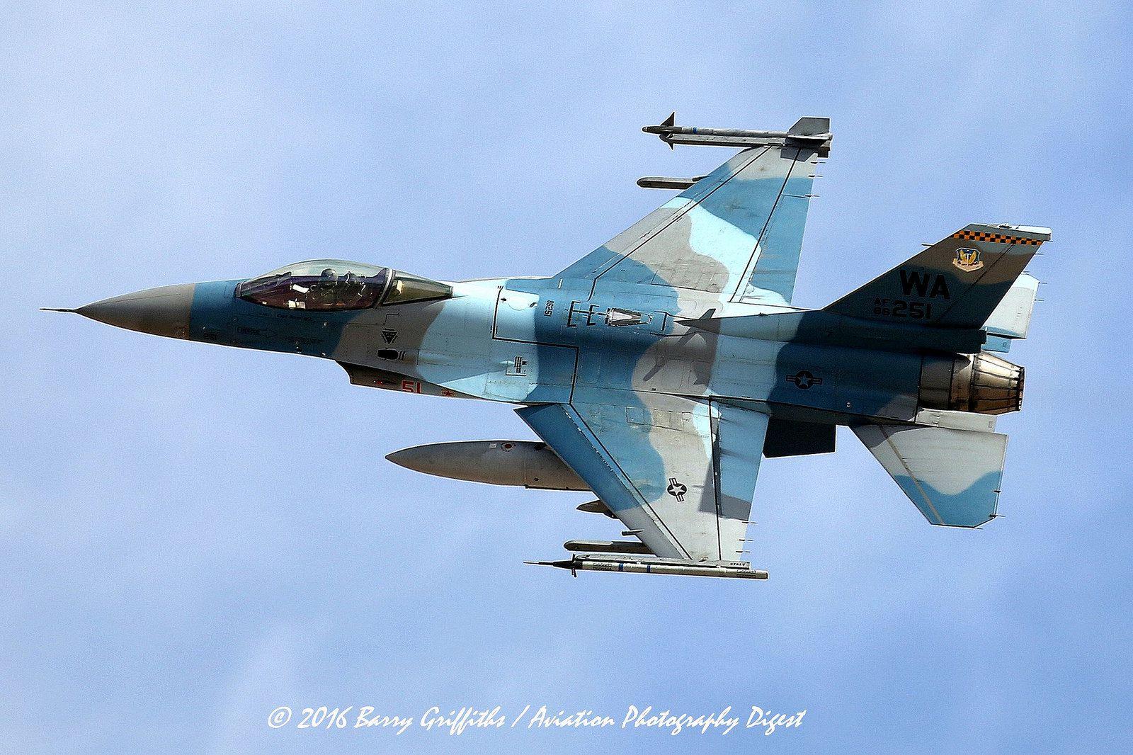 FLEX OPTION LAUNCH: RED FLAG 16-2 General Dynamics F-16C Viper USAF 86-0251 64th Aggressor Squadron (AGRS) 57th Adversary Tactics Group (ATG)