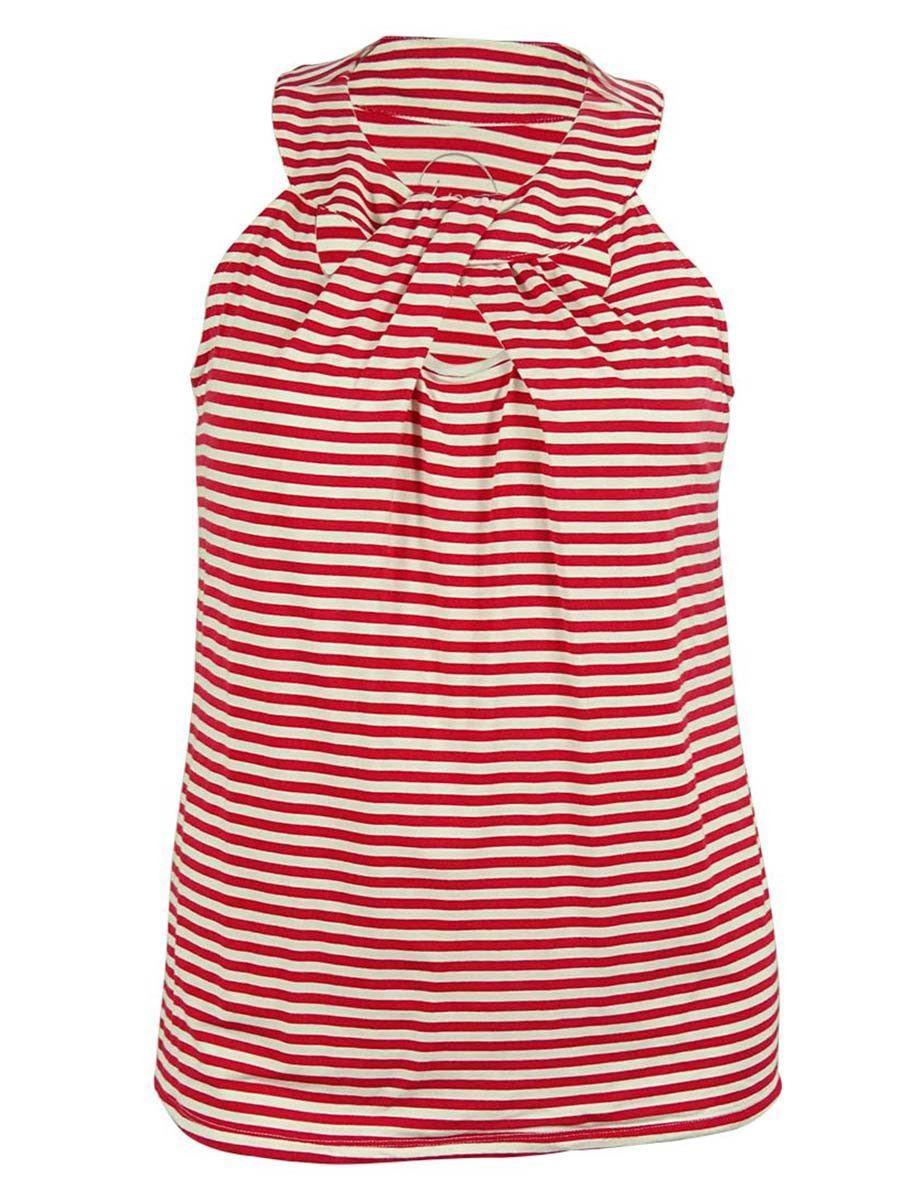 INC International Concepts Women's Striped Cutout Halter Top