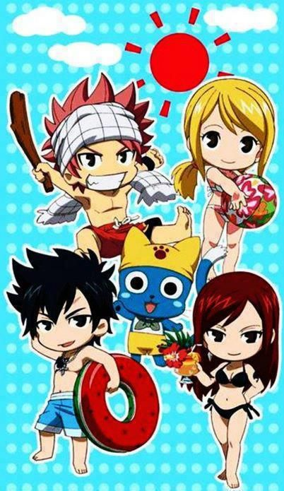 Natsu shouldn't be allowed to carry a stick, chibi or not ...