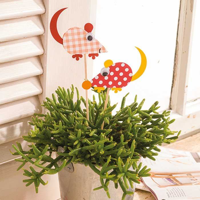 Gartenstecker mit motivstanzer idee mit anleitung klick for Basteltipps gartendeko