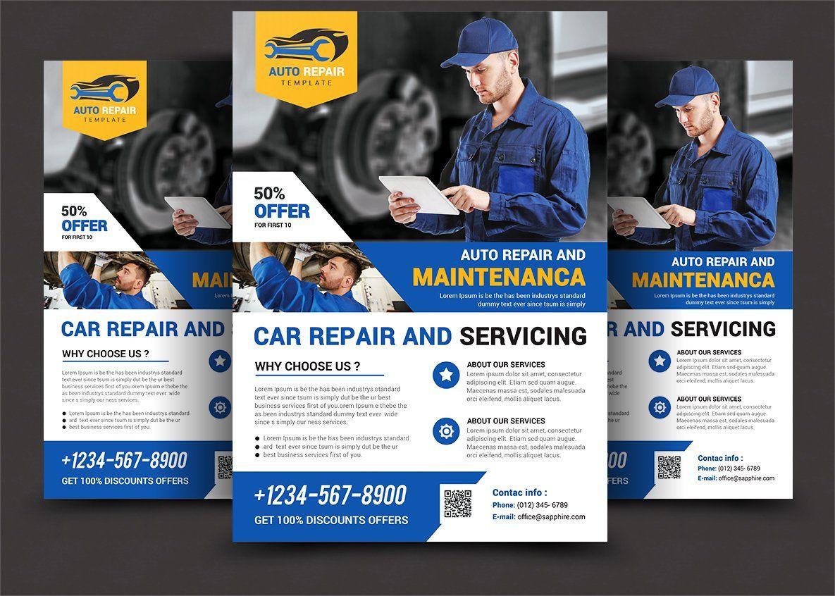 Car Repair Service Flyer in 2020 Car repair service