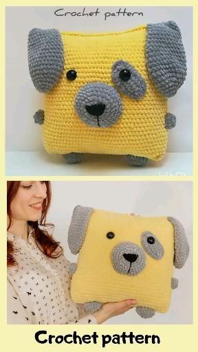 Photo of crochet pattern dog, crochet pillow, amigurumi pattern, amigurumi dog, crochet decor, amigurumi puppy