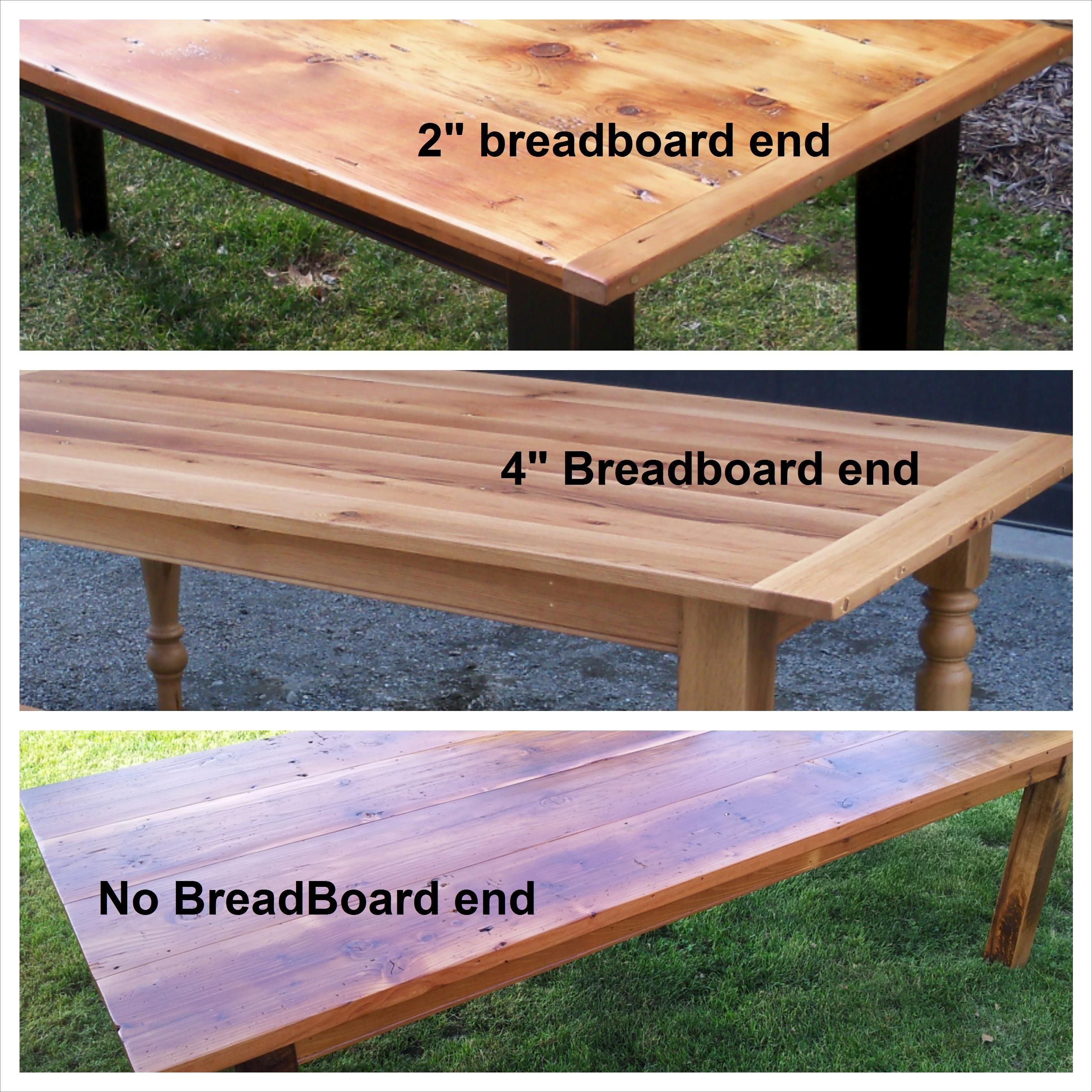 Breadboard Style Barnwood Table Top