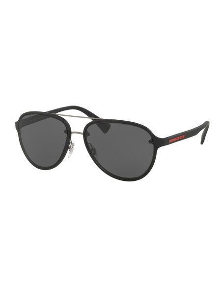 251e75256129 PRADA Linea Rossa Men S Aviator Sunglasses