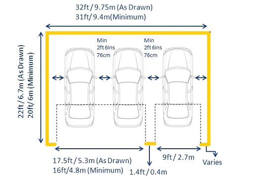 Hasil Gambar Untuk Garage Dimensions Garage Door Dimensions Double Garage Door Garage Door Sizes