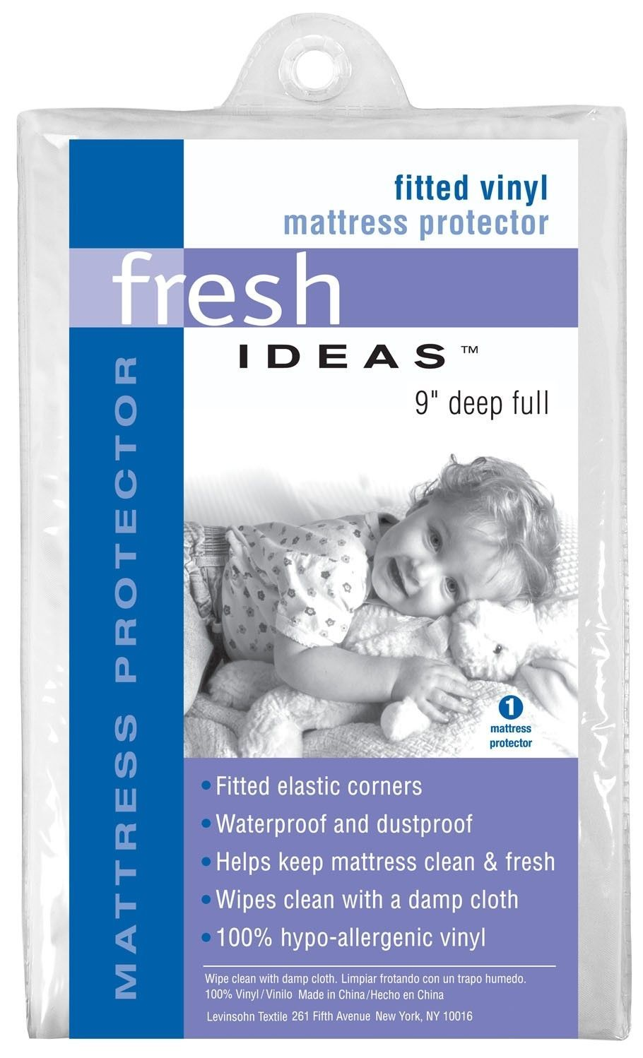 Fitted Vinyl Hypoallergenic Waterproof Mattress Protector