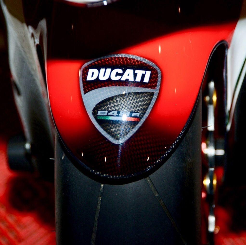 Painted Ducati Logo On Carbon Fibre Carbon Fiber Ducati Carbon