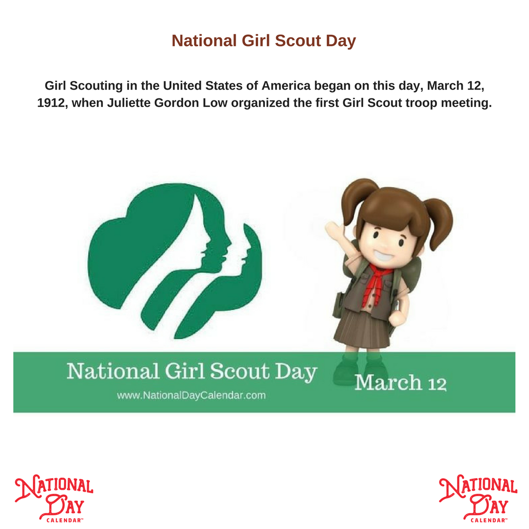National Girl Scout Day At The Very First Troop Meeting In