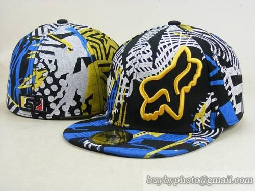 Fox Racing Hats Fitted Hats Downhill Race Hats Blue Yellow 5ef6a945c664