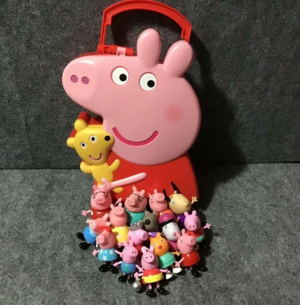Peppa Pig Carry Along Case + 15 Figures from Nick Jr. Show