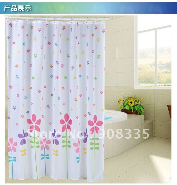Al 44 71 78 Cute Colourful Star Flower Polyester Fabric Shower Curtain Special Kids Gift On Aliexpress C Kids Shower Curtain Curtains Fabric Shower Curtains