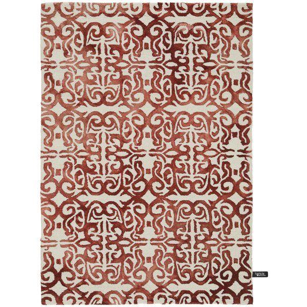 Dip Dye Handmade Wool Red Rug Living Room Pinterest