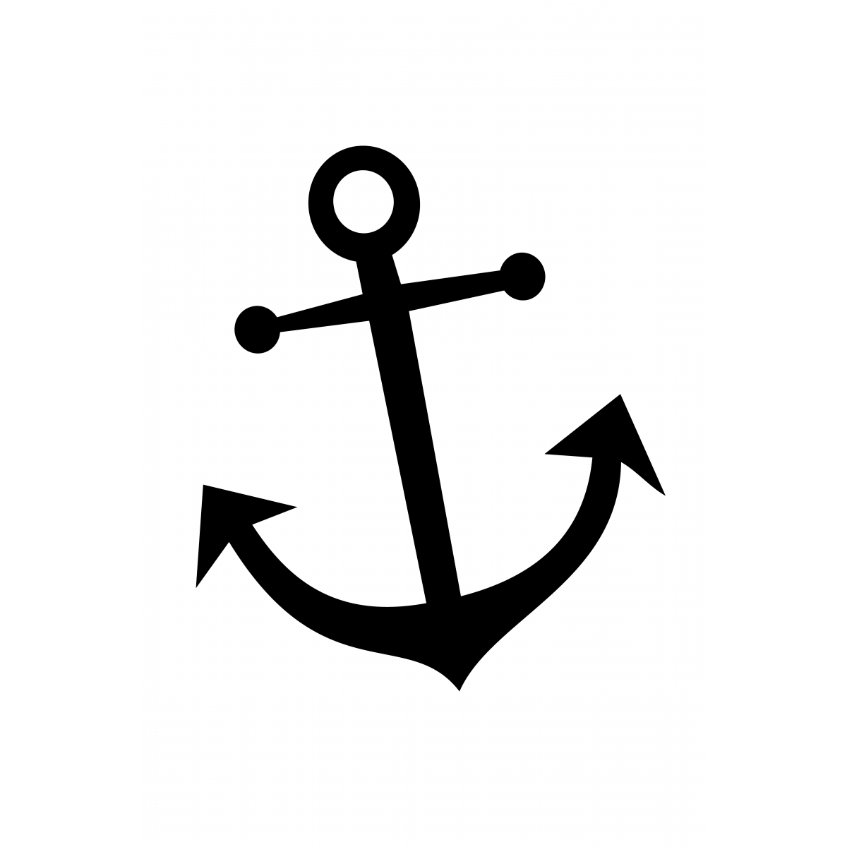 Simple Anchor Tattoo Template