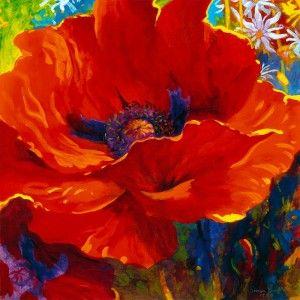 Simon Bull Wie Man Blumen Malt Mohnblumen Kunst Mohn Malerei