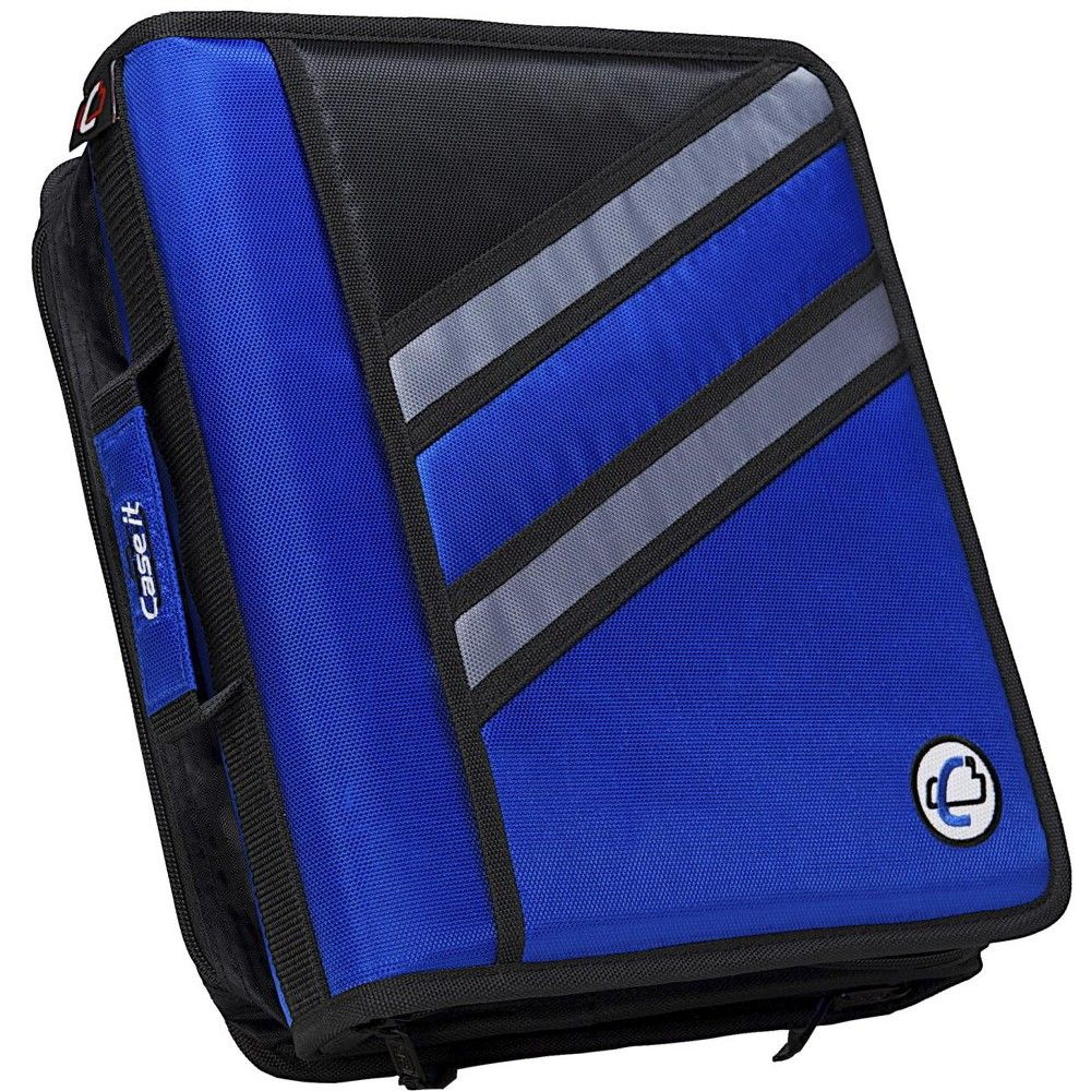Case-it Z-Design Zippered Binder With Tab File, D-Ring, 1