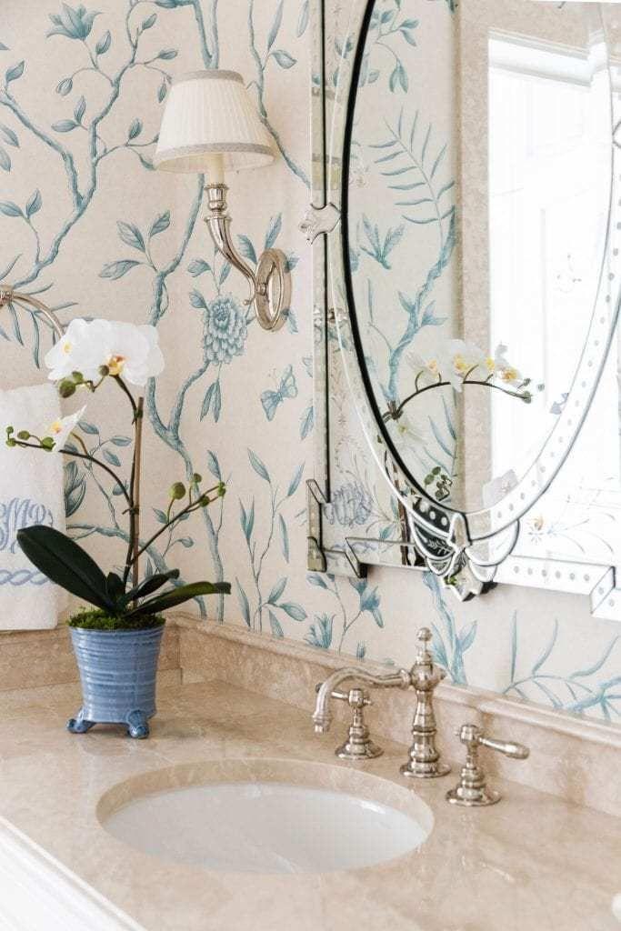 carletonvarneyjasperpeony Wallpaper accent wall bathroom