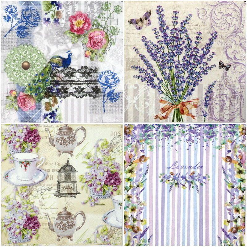 20 x Table Paper Napkin//Decoupage//Dining//Craft//Vintage//Quality//Botanical Cream