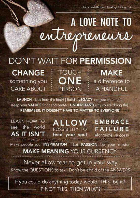 Merveilleux A Love Note To Entrepreneurs ❤ #hustle #Transformation #family #business  #woman