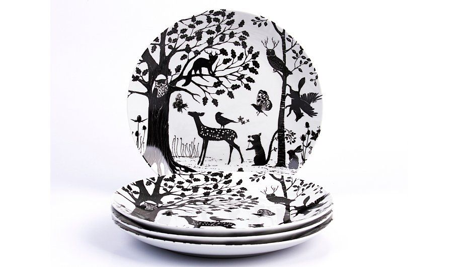 Buy George Home Enchanted Forest Dinner Plates Set Of 4 From Our Tableware Range Today From George At Asda Enchanted Forest Animal Plates George Home