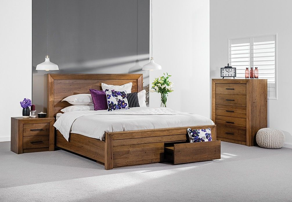 Lofty 4 Piece Tall Chest Queen Bedroom Suite Super A Mart With