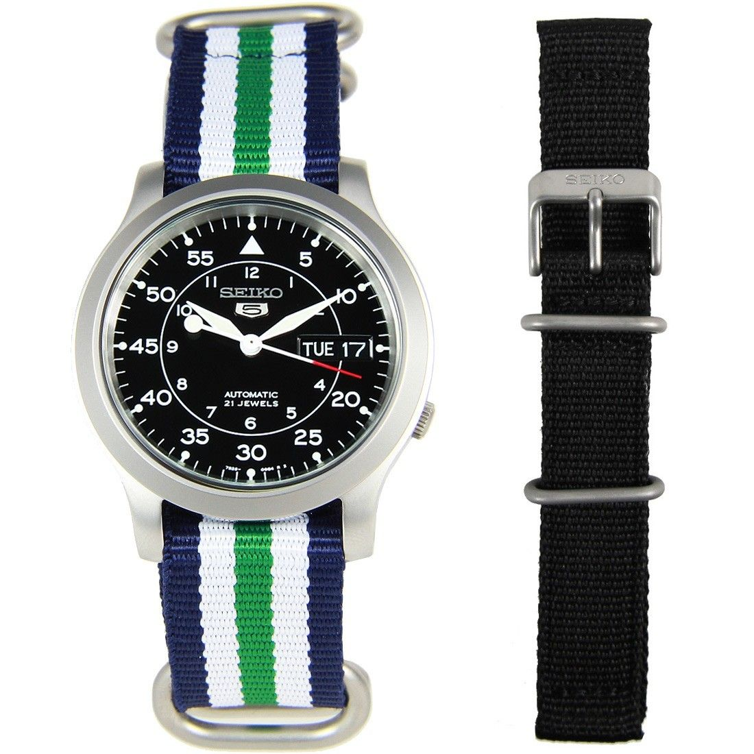 SNK809K2 Seiko 5 Automatic Watch with additional band