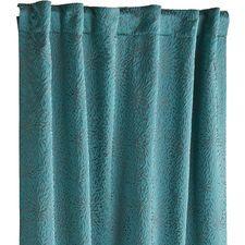 Stella Embossed Curtain - Teal/Gray