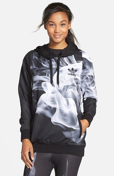 adidas Originals adidas  White Smoke  Print Hoodie available at  Nordstrom  https   735f6488c1a7