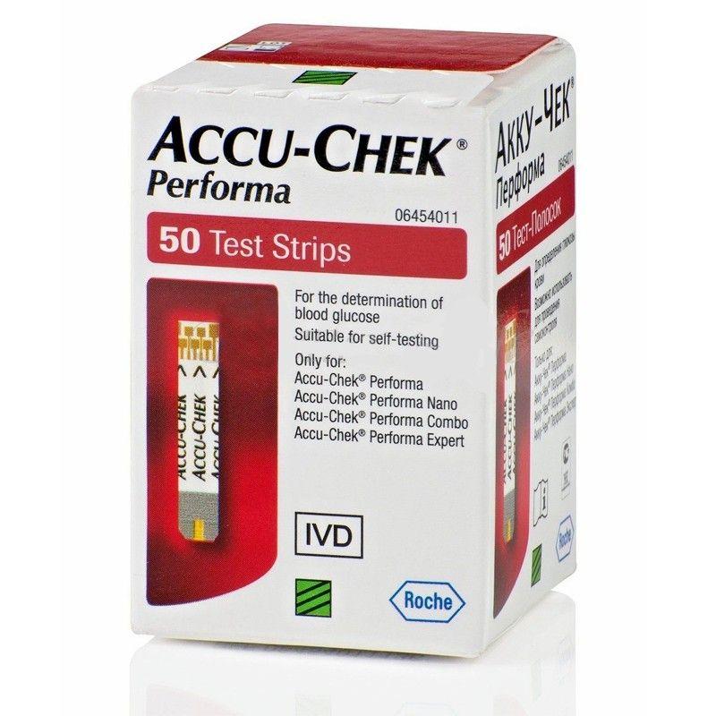 شرائط قياس نسبة السكر في الدم من أكيو تشيك روش خاصة بجهاز أكيوتشيك بيرفورما فقط 50 شريط Accu Chek Performa Medical Finding Yourself