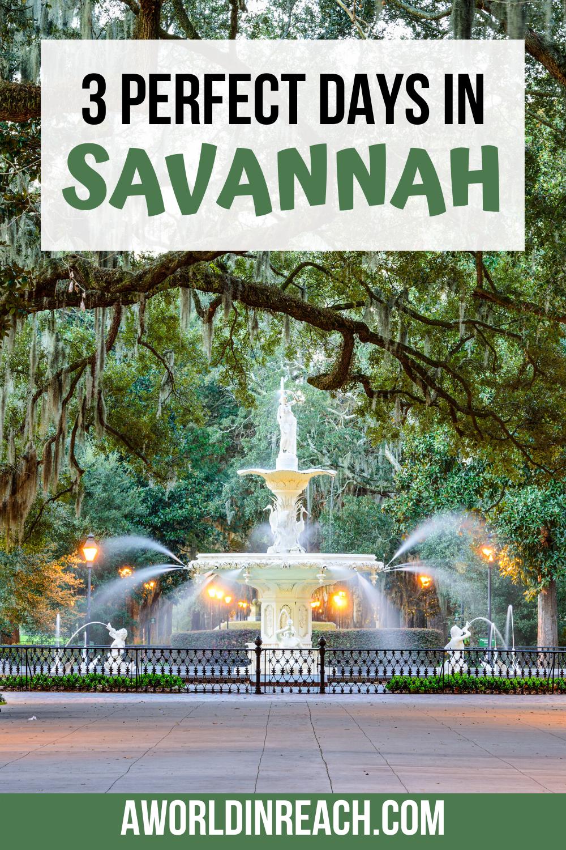 3 Tage in Savannah: Planen Sie ein langes Wochenende in Savannah, Georgia • eine Welt in Reichweite