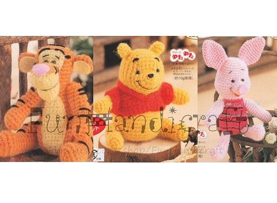 Disney+Winnie+the+pooh+and+friends+Amigurumi+por+FunHandicraft,+$ ...