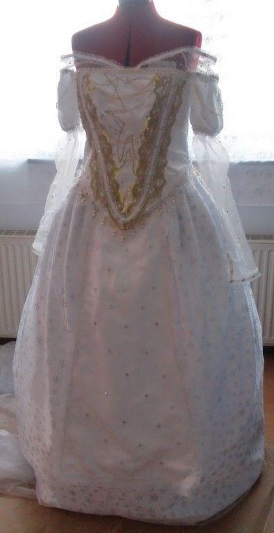 alice in wonderland white queen mirana costume dress alice im wunderland wei e k nigin kost m. Black Bedroom Furniture Sets. Home Design Ideas