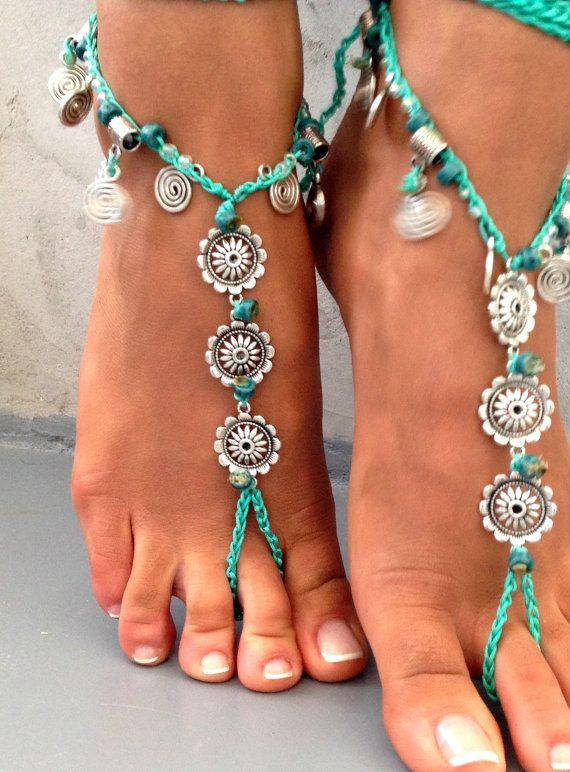 This design is new, listing for a pair Metal mandala tibetian silver with ceramic beads ,blue cord and natural gemstones You can put your feet in the