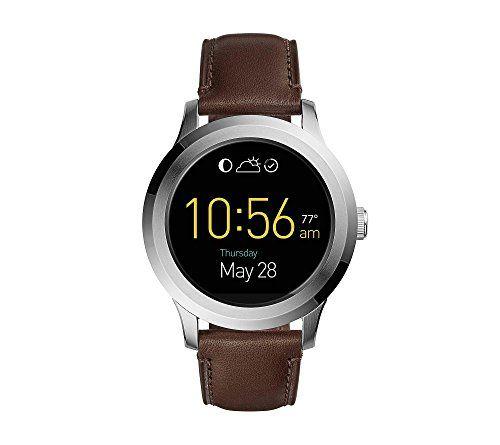 Fossil Q Founder 2 0 Touchscreen Leather Strap Smartwatch Shopinzar Com Fossil Smart Watch Tech Watches Smart Watch