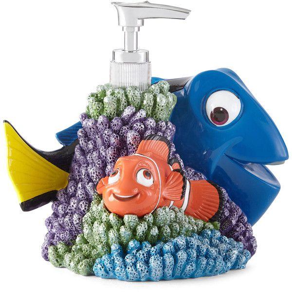 Nemo Bathroom Set: Disney Finding Dory Lagoon Soap Dispenser ($17) Liked On