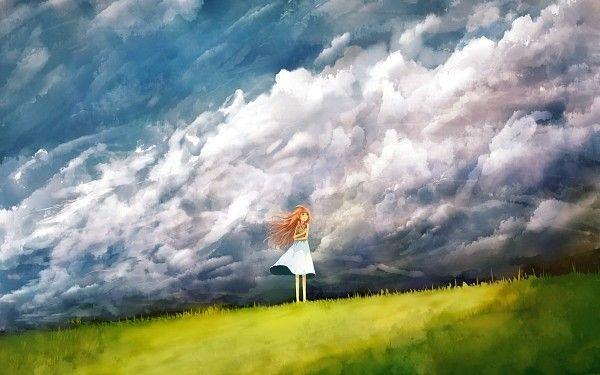 Tags Anime Grass Grass Field Field Sun Hat Scenery Summer Dress Summer Scenery Scenery Background Anime Wallpaper