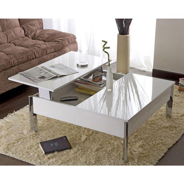 Table Basse Up Down Blanche Maison Facile Www Maison Facile