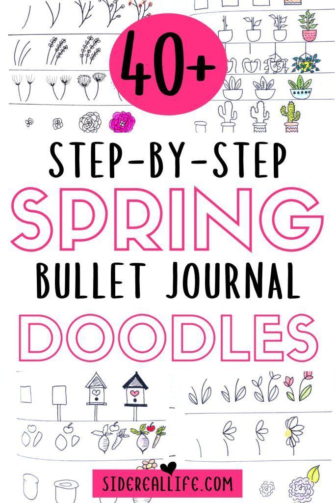 Spring Bullet Journal Doodles To Easily Copy In Your Bujo | Bullet journal, Planner doodles, Journal