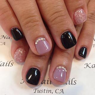 cute fall autumn nail art short nails  ideas de unas