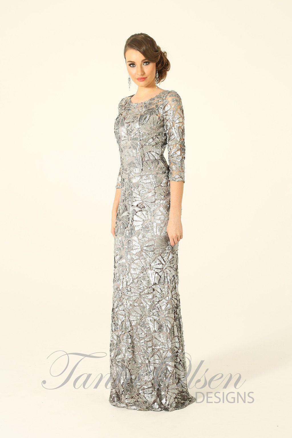 Silver Viola evening dress | Viola, Dress designs and Olsen