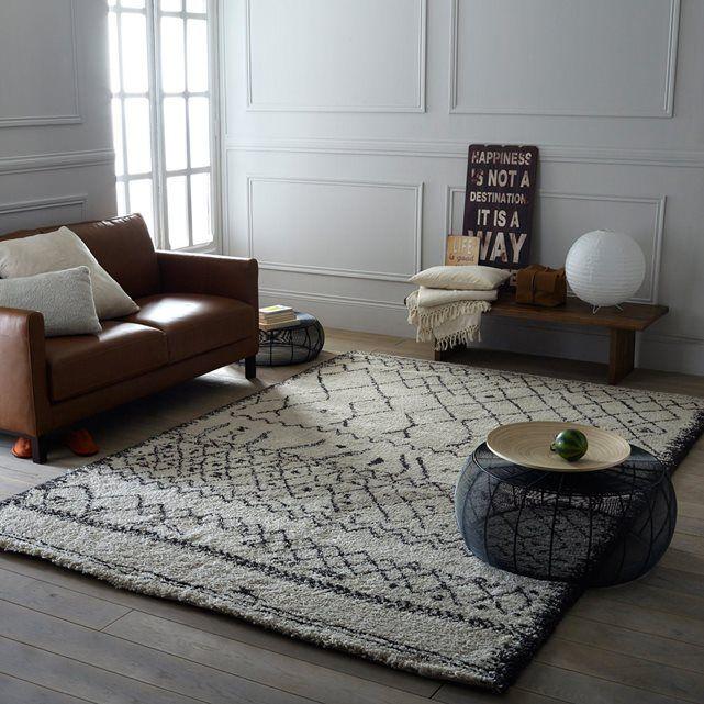 Tapis style berb re afaw carpet tapis pinterest white rug berber rug et shaggy rug for Salon berbere moderne