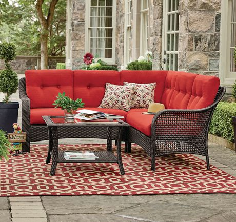 hometrends tuscany 4 piece sectional