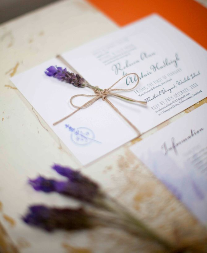 Items Similar To Lavender Wedding Invitations   Twine And Lavender Not  Included. Nice Look