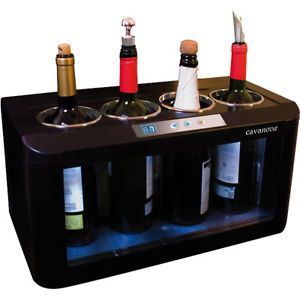 4 Bottle Wine Cooler Details About Cavanova 4 Bottle Open Top